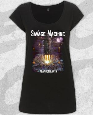 Savage Machine - Abandon Earth Albumcover T-shirt (Girls)