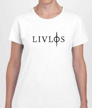 LIVLØS - White T-shirt with Black Logo (girls)