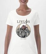 LIVLØS: Hvid Rot & Ruin T-shirt (Ladies)
