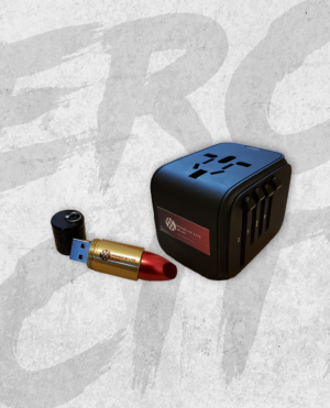 Women In Live Music: USB Lipstick and Travel Adapter bundle