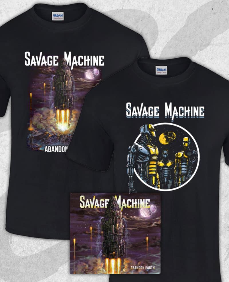 Bundle with the Abandon Earth CD and album t-shirt printed on Gildan Premium.