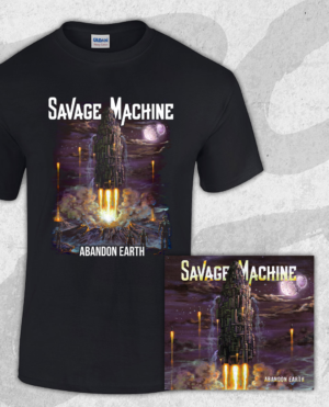 Savage Machine Bundle: Abandon Earth CD + T-shirt (Guys)