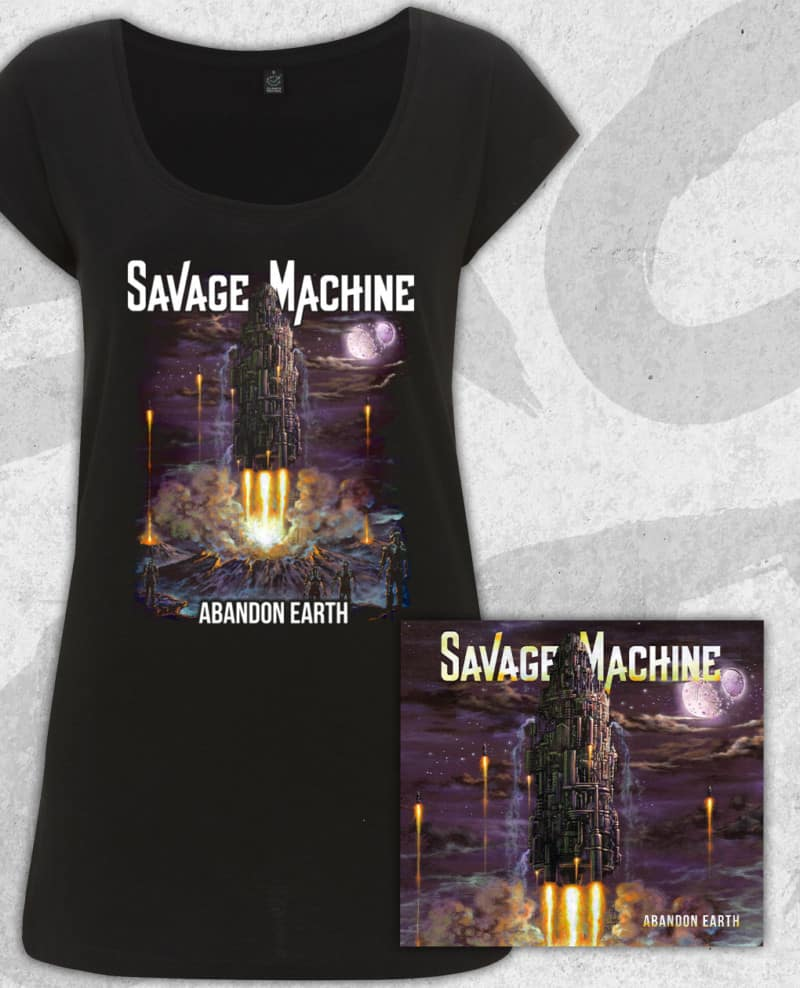 Savage Machine Bundle: Abandon Earth CD + T-shirt (Girls)