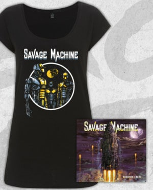 Savage Machine Bundle: Abandon Earth CD + Robots T-shirt (Girls)