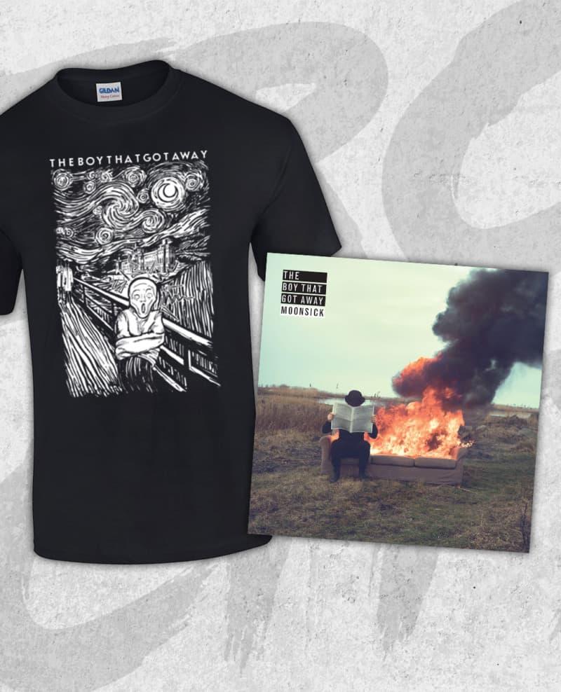 The Boy That Got Away - Moonsick CD & T-shirt BUNDLE