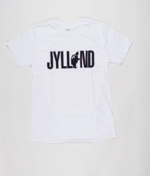 no-black-shirts-hvid-t-shirt-med-jylland-logo