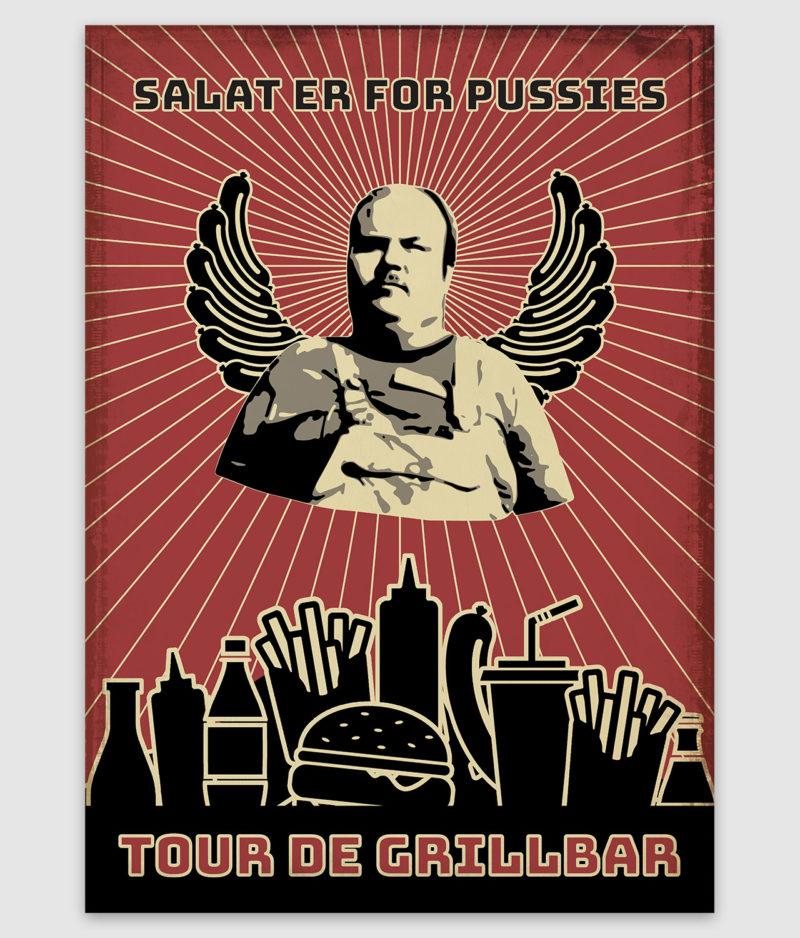tour de grillbar-poster-salat er for pussies-a2