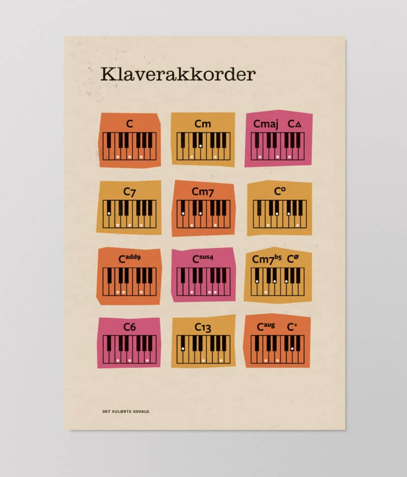 Det Kulørte Udvalg - Klaverakkorder (plakat)