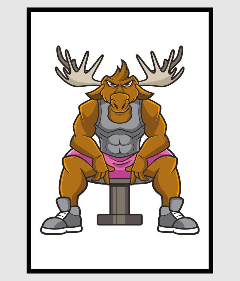 den-mandige-elg-poster-70x100