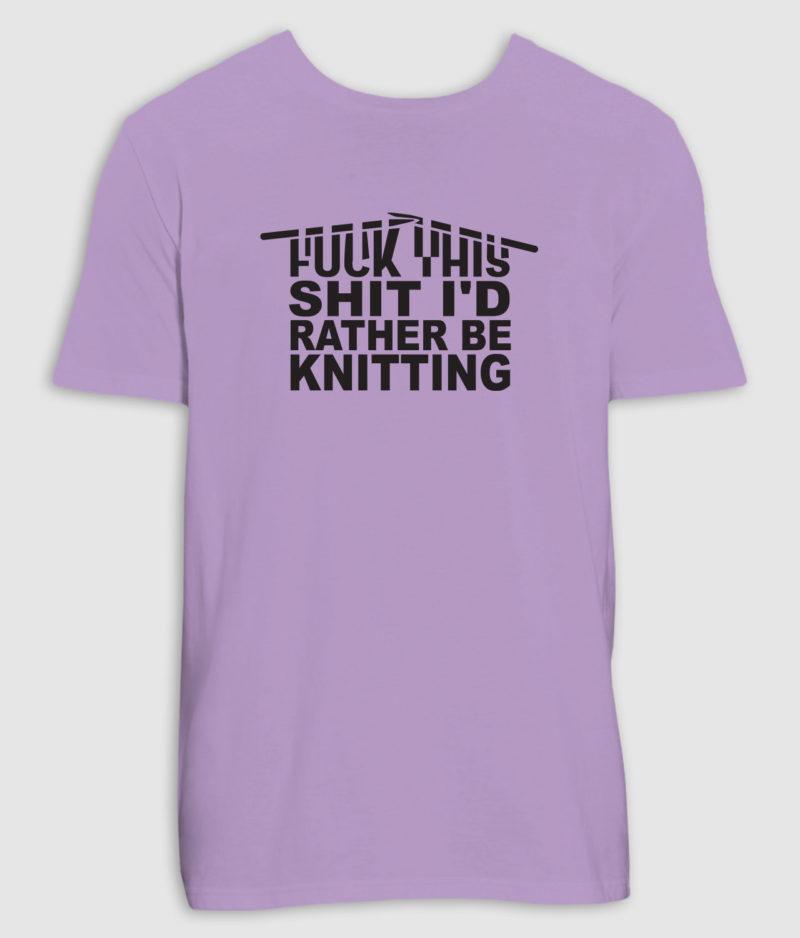 no black shirts-tshirt-knitting-lavender dawn