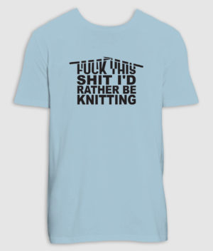 no black shirts-tshirt-knitting-sky blue