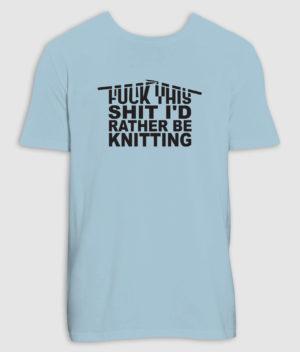 no black shirts-tshirt-knitting-sky blue