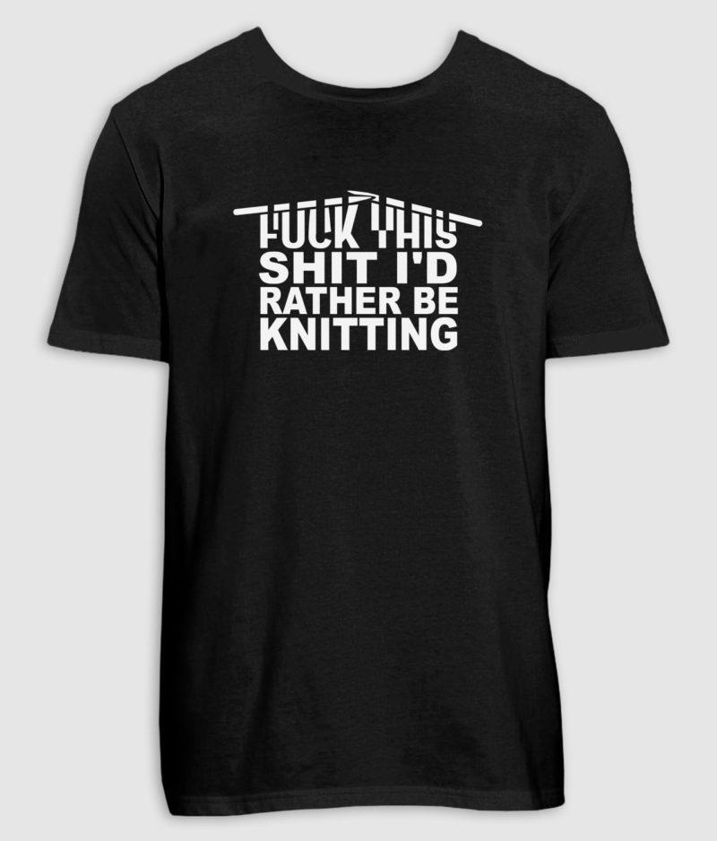 no black shirts-tshirt-knitting-black