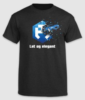 dengodk-tshirt-let og elegant-black-front