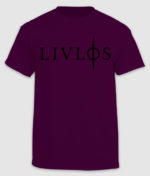 livløs-tshirt-logo-maroon-front