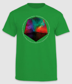 the dreams-tshirt-scratches in the surface-irish green-front