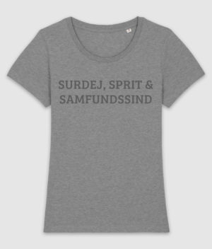samfundssind-tshirt-expresser-surdej sprit samfundssind-mid heather grey-front