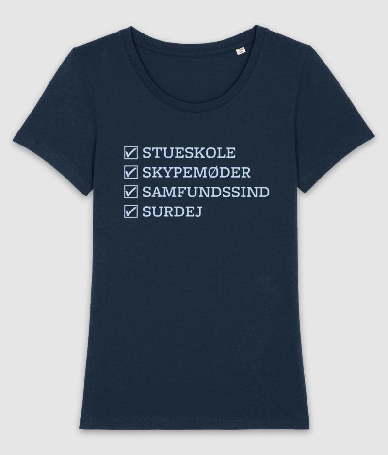 samfundssind-tshirt-expresser-checkmarks-french navy-front