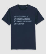 samfundssind-tshirt-creator-checkmarks-french navy-front