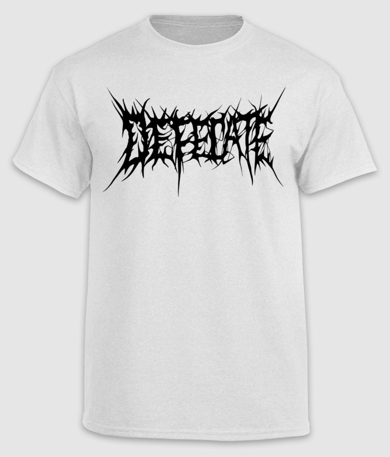 defecate-tshirt-logo-white-front