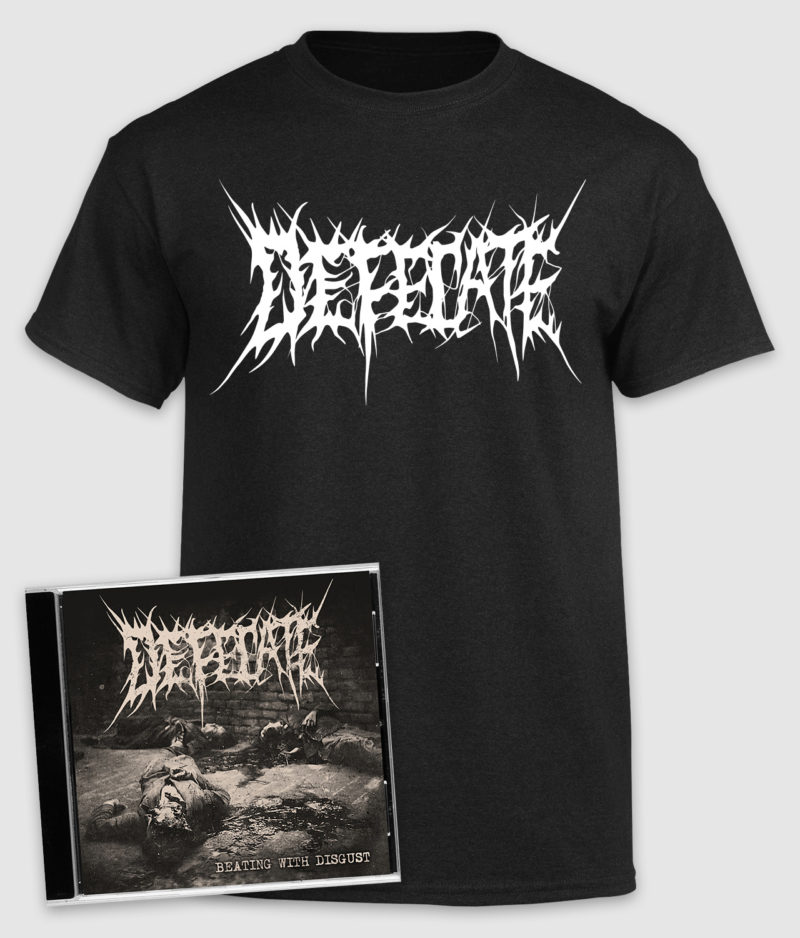 defecate-bundle-beating with disgust-cd-tshirt