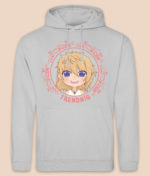 trendniq-hoodie-moondust grey-pink logo-front-2