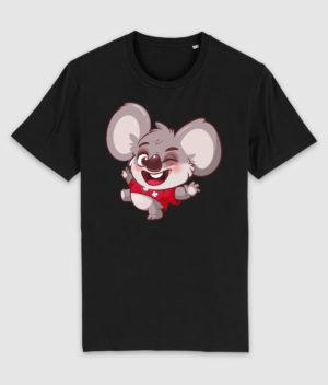 kovates-tshirt-koala-black-front