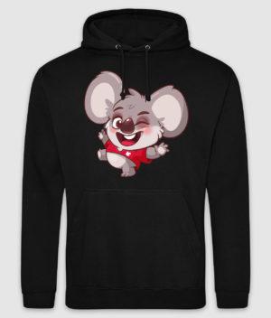kovates-hoodie-koala-black-front