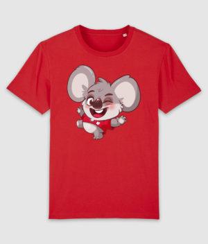 kovates-tshirt-koala-red-front
