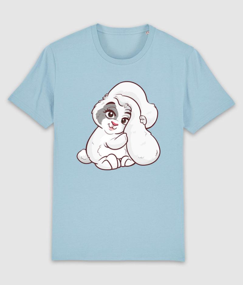 kaytrayne-tshirt-bunny-sky blue-front