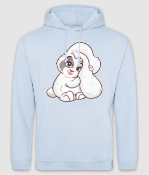 kaytrayne-hoodie-bunny-sky blue-front