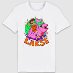 lakserytteren-tshirt-white-orange-tekst