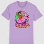 lakserytteren-tshirt-lavendar-dawn-orange-tekst