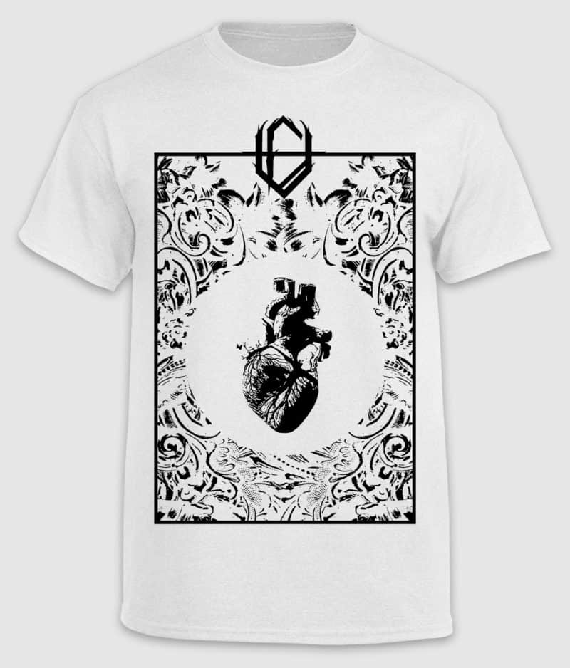 unseen faith-tshirt-heart-white-front