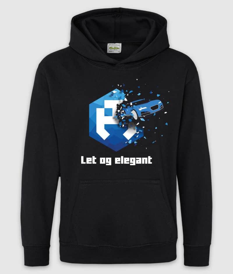 dengodk-hoodie kids-let og elegant-black-front