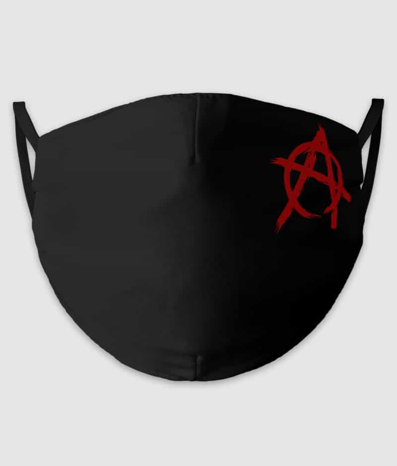 no black shirts-mundbind-anarchist