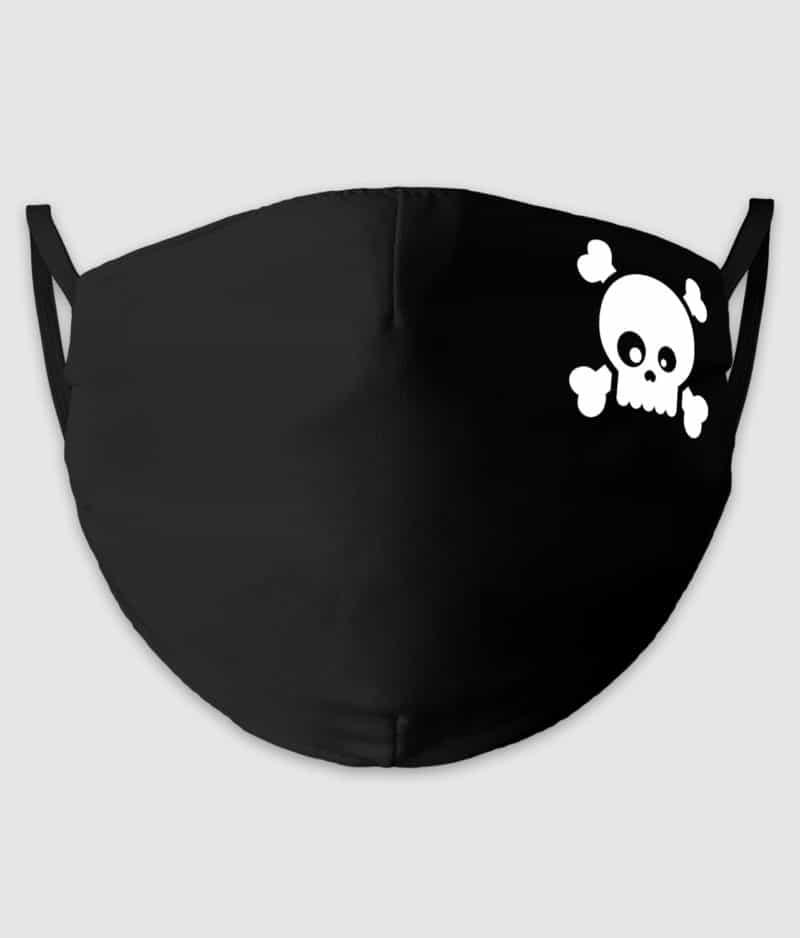 no black shirts-mundbind-goofy skull