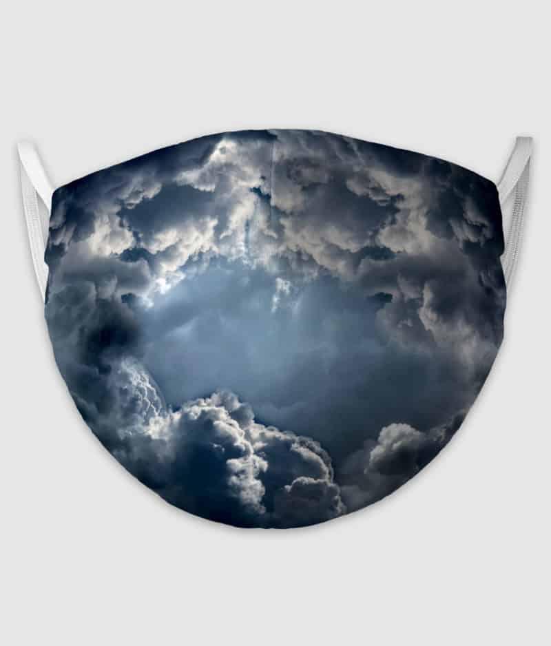 no black shirts-mundbind-dramatic clouds
