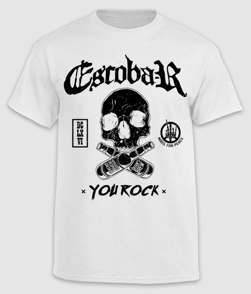 escobar-tshirt-you rock-white-front