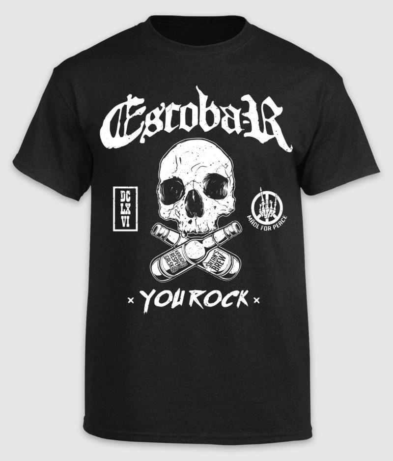 escobar-tshirt-you rock-black-front