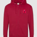 kakio-hoodie-zip-bloodmoon-red hot chilli-1-1-mockup