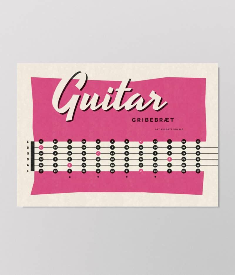 Det Kulørte Udvalg – Guitar gribebræt (plakat)