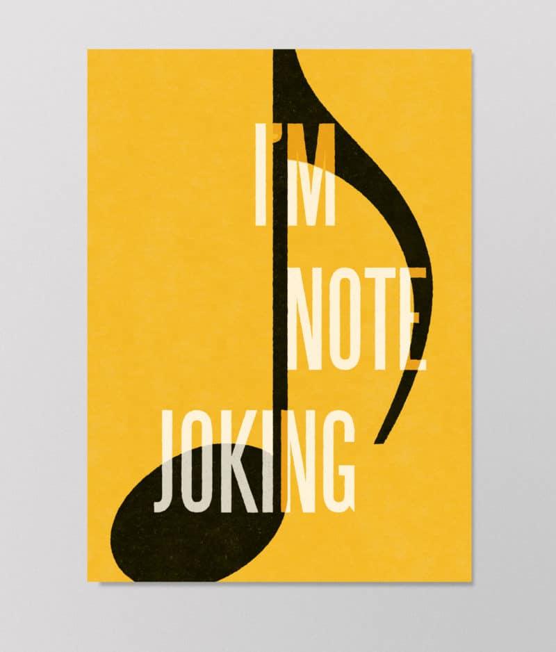 Det Kulørte Udvalg – I'm note joking (plakat)