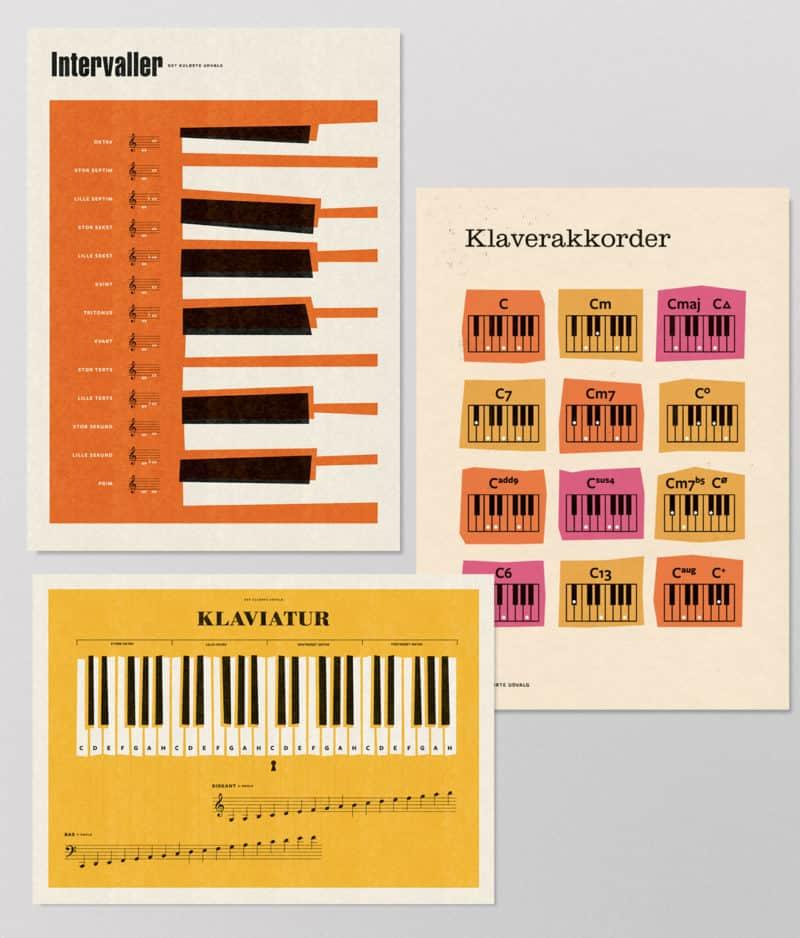 Det Kulørte Udvalg - Musikpakken – Klaverpakken