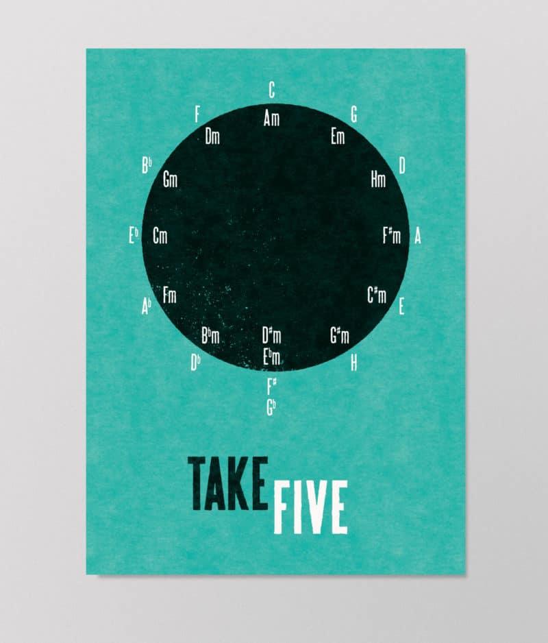 Det Kulørte Udvalg – Take five (plakat)