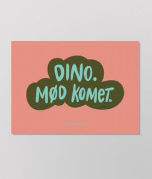 Det Kulørte Udvalg – Dino. Mød komet. (plakat)