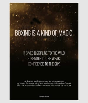 ringside agency-poster-boxing is a kind of magic