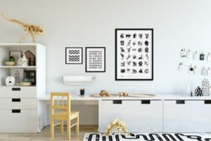 mock up wall in child room interior interior scandinavian style