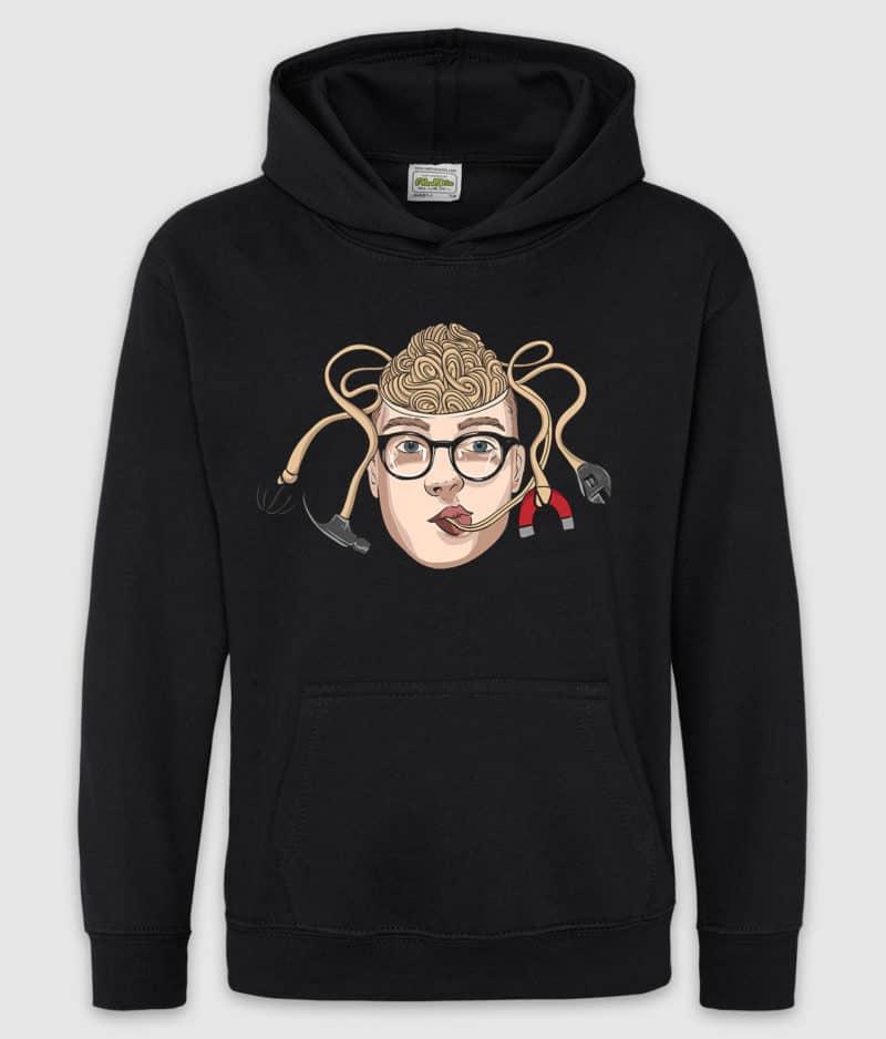 matzen-hoodie kids-nudel-jet black-front