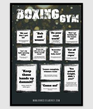 ringside agency-poster-boxing gym